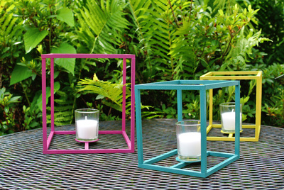 colorful outdoor cube lanterns | farm fresh therapy.jpg
