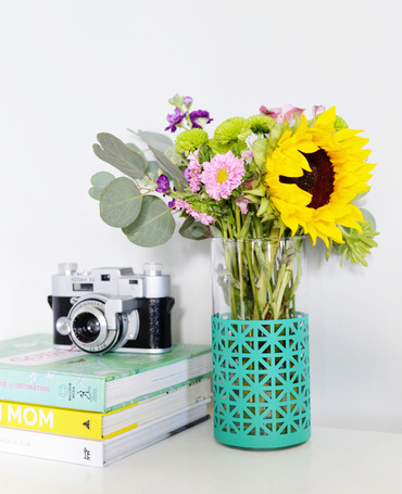 DIY patterned hurricane vase | Farm Fresh Therapy for The Nest.jpg