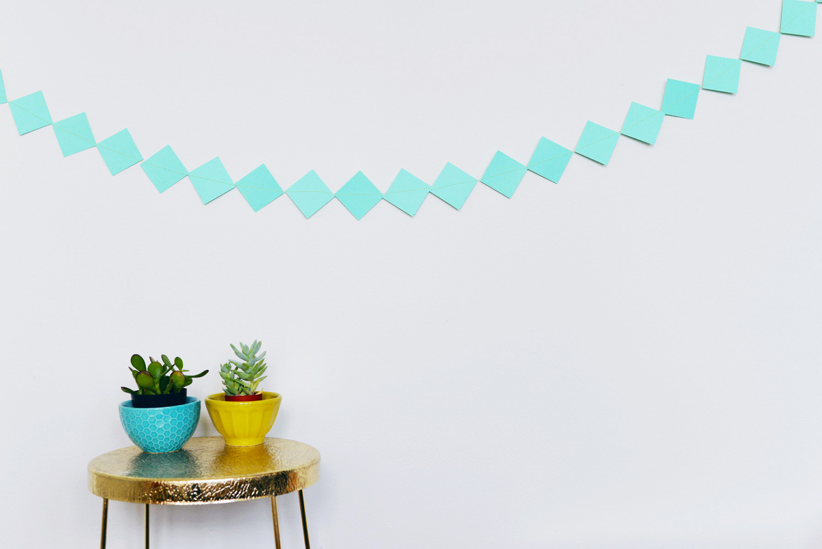 paper diamond garland | Farm Fresh Therapy.jpg